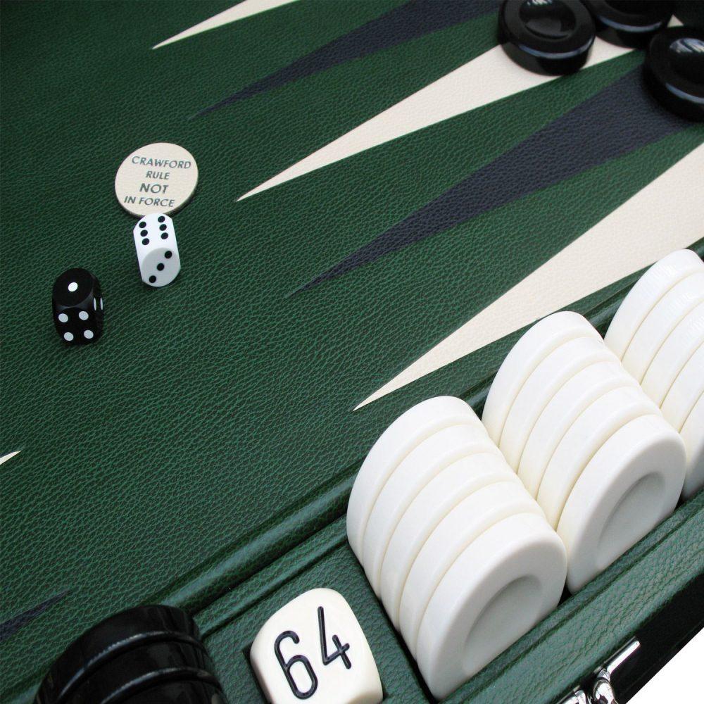 Leather & Acrylic Backgammon Set