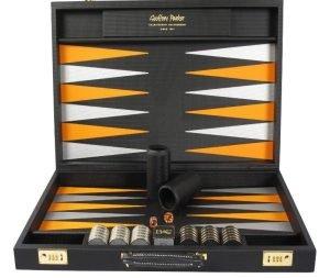 Geoffrey Parker Backgammon | Custom Backgammon Set | Luxury Backgammon Set | Custom Backgammon