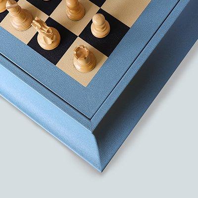 Luxury Chest | Custom Chess set | Bespoke Chess | Leather Chess Set