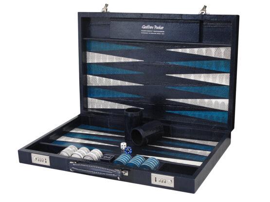 Luxury Exotic watersnake Backgammon   Geoffrey Parker Backgammon