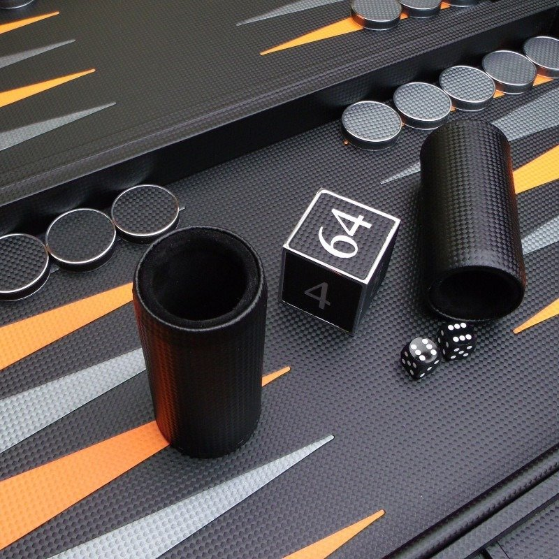 Geoffrey Parker | Carbon Fibre Backgammon