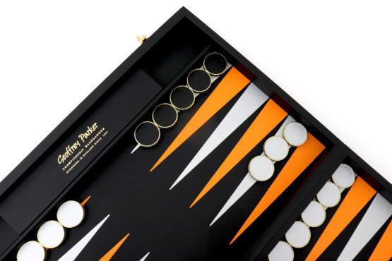 Geoffrey Parker | Carbon Fibre | Luxury Backgammon | F1 Backgammon | Carbon Fibre Gift