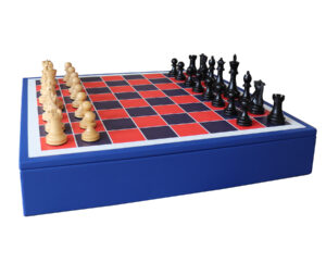 Luxury Chess Set | Geoffrey Parker Chess Set | Leather Chess Set